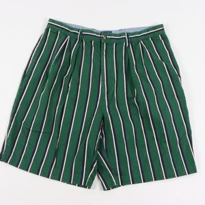 90s Tommy Hilfiger Mens 36 Striped Cotton Shorts